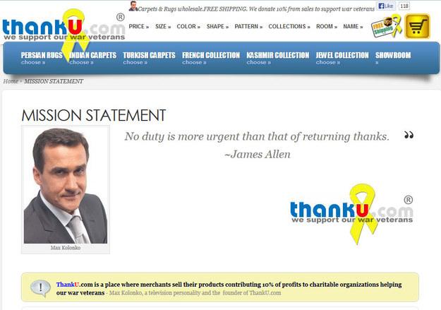 Na obrazie z ekranu: fragment strony internetowej thanku.com /thanku.com /