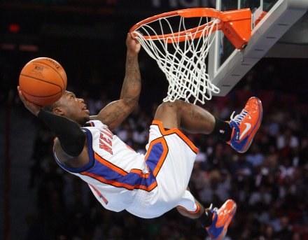 Na parkietach NBA emocji nigdy nie brakuje /AFP