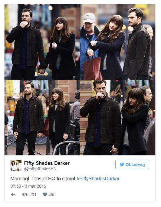 """Na planie nowych części """"50 twarzy Greya"""" /Twitter"""