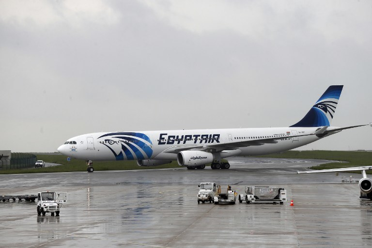 Na pokładzie airbusa liniii EgyptAir znajdowało się 66 osób /THOMAS SAMSON / AFP /AFP