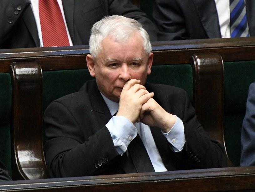 Na razie partia Jarosława Kaczyńskiego niezmiennie prowadzi w sondażach /Rafał Oleksiewicz /Reporter