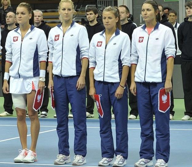 Na ślubie Alicji Rosolskiej (druga od prawej) nie mogło zabraknąć jej tenisowych przyjaciółek /AFP