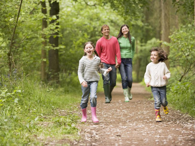 Na spacer do lasu, miejskiego parku lub na łąkę ubierajmy się w długie spodnie i kryte buty  /© Panthermedia