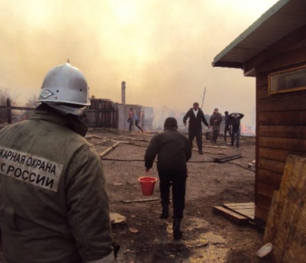 Na terytorium Chakasji spłonęło ponad 1,2 tys. domów w 38 miejscowościach /RUSSIAN EMERGENCY MINISTRY/HANDOUT /PAP/EPA