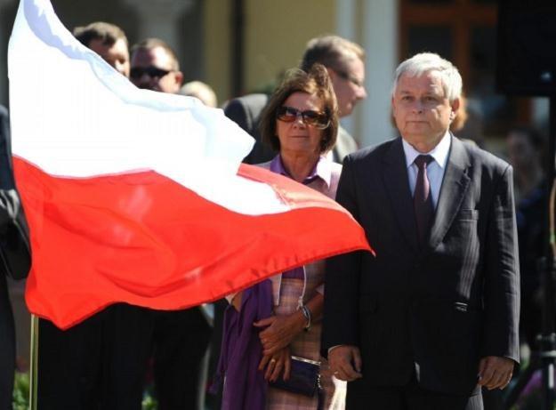 Na zdjęciu arch. prezydent Polski Lech Kaczyński i jego małżonka Maria , fot. J. Turczyk /PAP