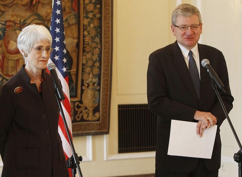 Na zdjęciu Bogusław Winid (z prawej) i podsekretarz stanu USA Wendy Sherman /AP Photo /East News