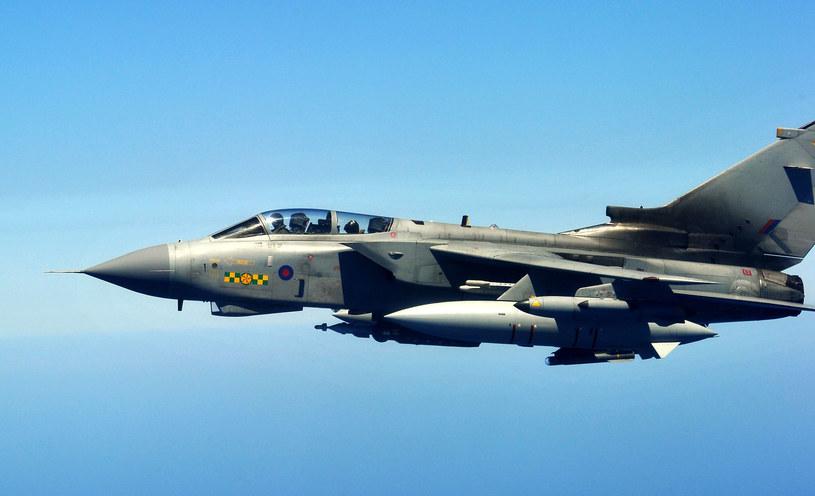 Na zdjęciu brytyjski Typhoon /ALBERTO PIZZOLI /AFP