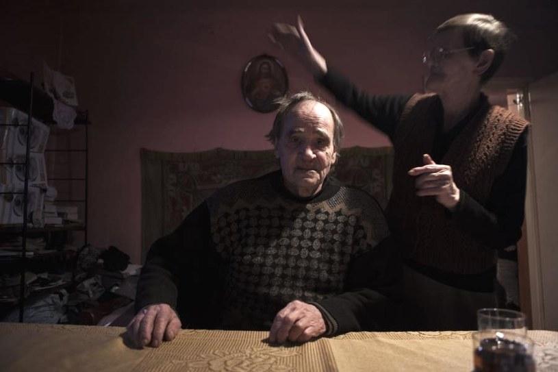 """Na zdjęciu Domicela (""""Duncia"""") z mężem Antkiem /"""