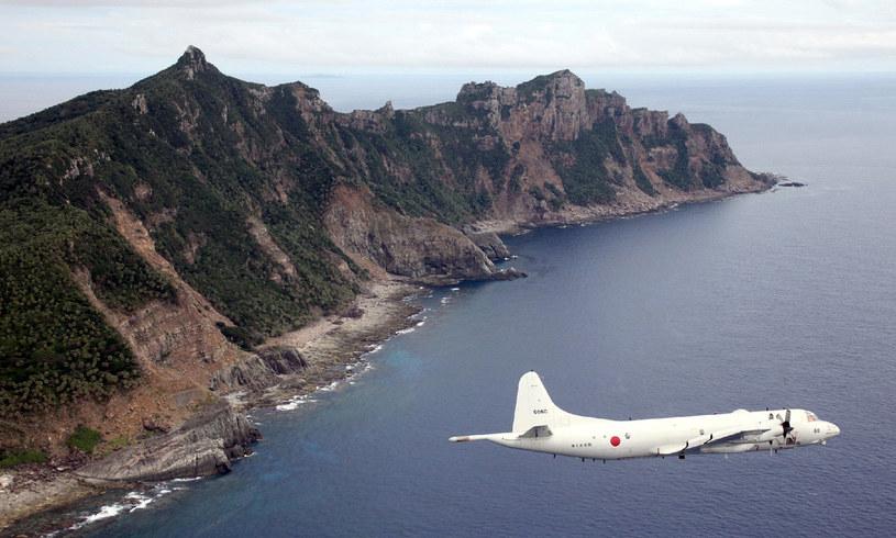 Na zdjęciu japoński samolot P-3C nad Morzem Wschodniochińskim /JAPAN POOL  /AFP