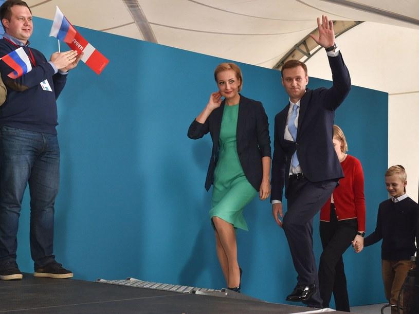 Na zdjęciu lider opozycji Aleksiej Nawalny z żoną Julią /AFP