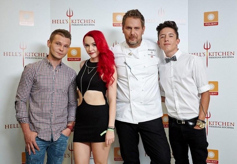 Na zdjęciu od lewej: Patryk Kumór, Saszan, Wojciech Modest Amaro i Dawid Kwiatkowski /Polsat
