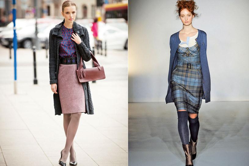 Na zdjęciu od lewej: stylizacja Twojego Stylu oraz zdjęcie z wybiegu na pokazie Vivienne Westwood /Twój Styl