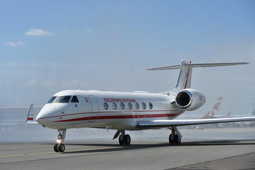 Na zdjęciu: Pierwszy nowy samolot dla polskich politykow Gulfstream G550 /Rafal Oleksiewicz/REPORTER /East News