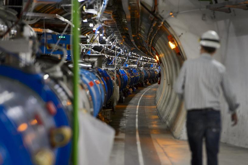 Na zdjęciu pracownik CERN przy Wielkim Zderzaczu Hadronów /FABRICE COFFRINI /AFP