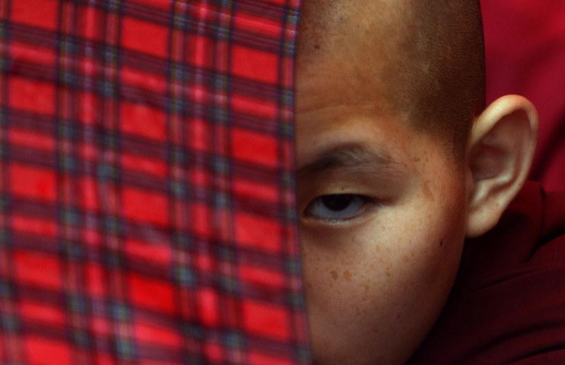 Na zdjęciu tybetański mnich /PRAKASH MATHEMA /AFP