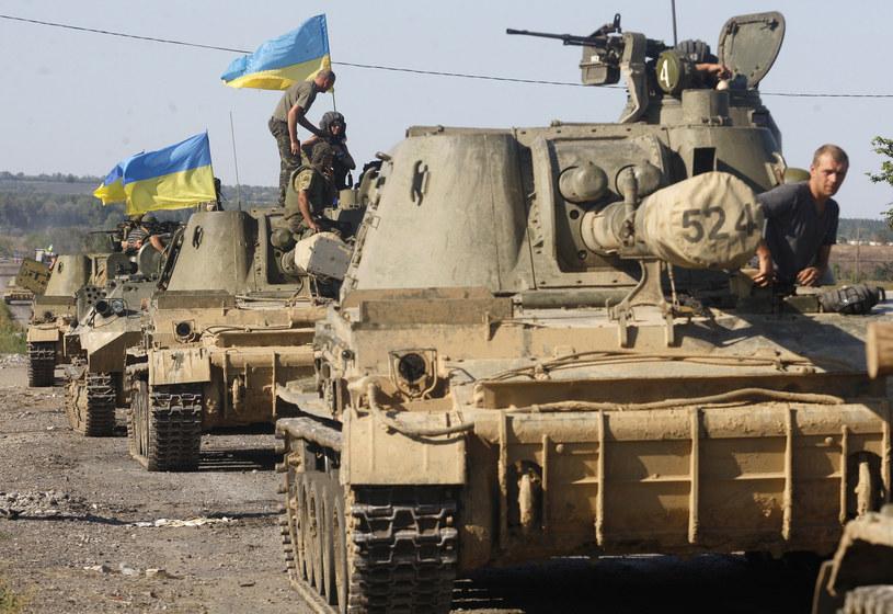 Na zdjęciu ukraińska kolumna w obwodzie donieckim, 3 września 2014 /ANATOLII STEPANOV /AFP