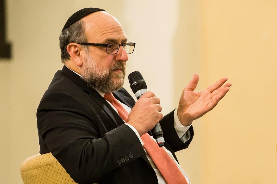Naczelny rabin Polski Michael Schudrich / Maciej Kulczyński    /PAP