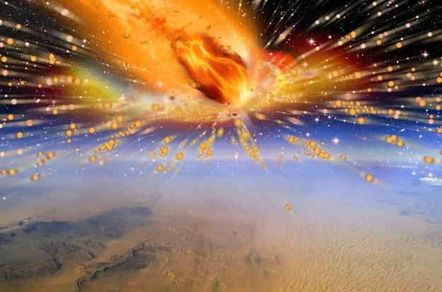 Nad naszą planetą wybuchła kometa, która rozgrzała piasek do temperatury 2000 stopni Celsjusza /materiały prasowe
