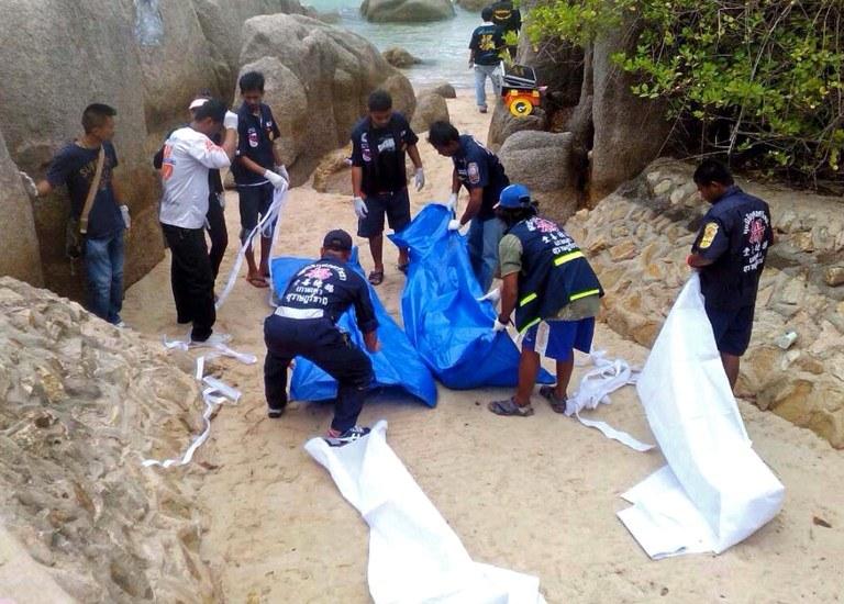 Nagie ciała turystów znaleziono na plaży w tajlandzkim kurorcie /AFP