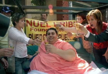 Najcięższy człowiek śiwata Manuel Uribe /AFP