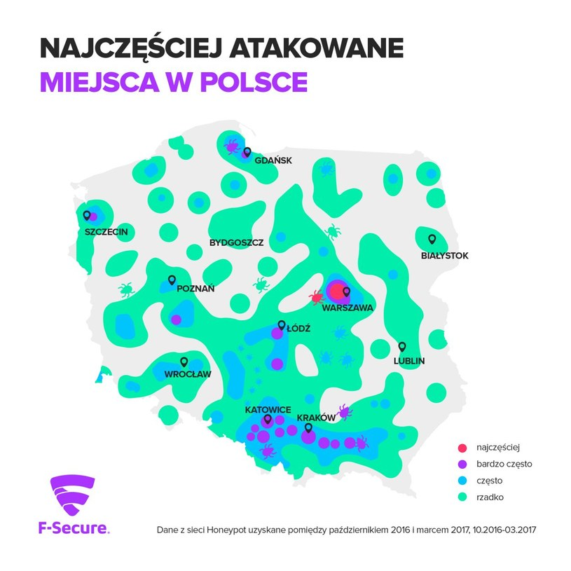Najczęściej atakowane miejsca w Polsce /materiały prasowe