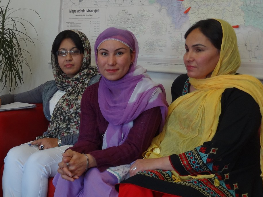 Najia Anwari, Husna Mohammadi, Malina Fahiz /Grzegorz Jasiński /RMF FM