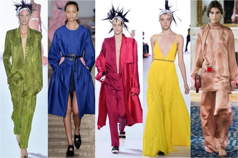 Najmodniejsze kolory sezonu. Od lewej: Greenery, lapis blue, pink yarrow, primrose yellow, hazelnut /Getty Images