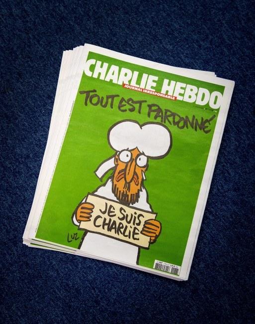 "Najnowsza okładka tygodnika ""Charlie Hebdo"" /KOEN VAN WEEL /PAP/EPA"