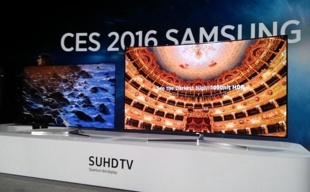Najnowsze, flagowe telewizory Samsunga. Sprzęt wykorzystuje technologię SUHD /INTERIA.PL