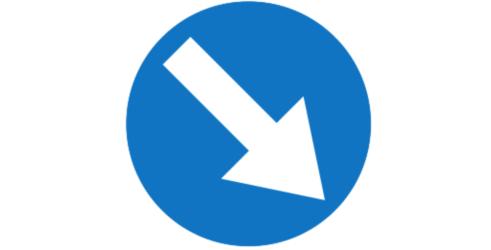 nakaz jazdy z prawej /Motor