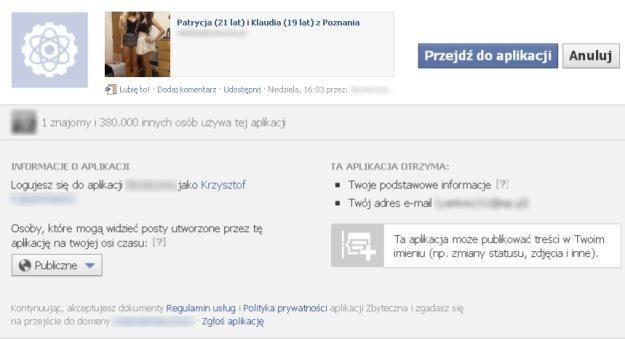 Należy uważnie czytać, jakie uprawnienia ma dana aplikacja na Facebooku. I klikać z rozsądkiem /materiały prasowe