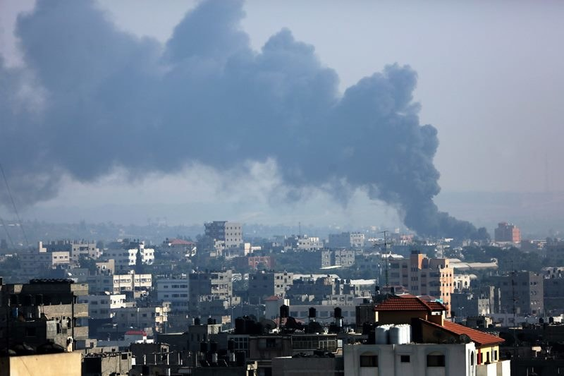 Nalot na Strefę Gazy /MOHAMMED SABER  /PAP/EPA