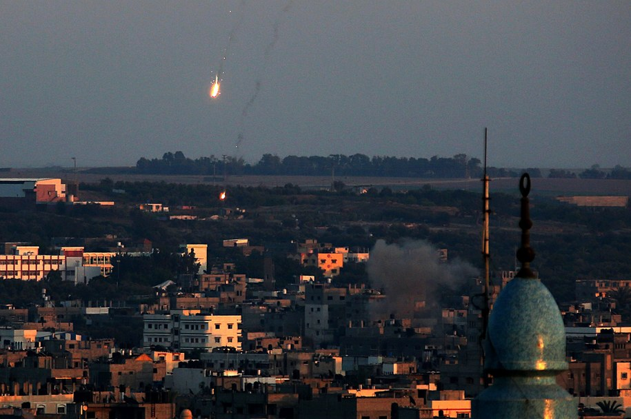 Naloty w Strefie Gazy /MOHAMMED SABER  /PAP/EPA