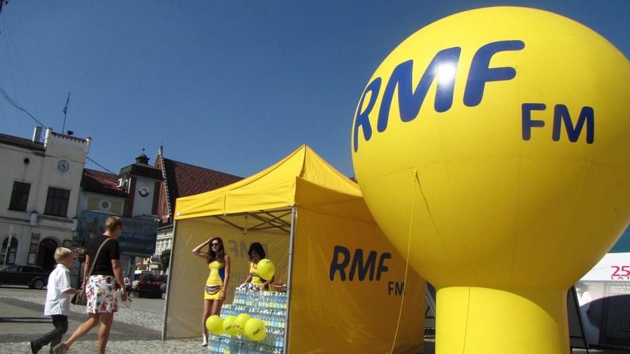 Namiot RMF FM na rynku w Oświęcimiu /Kamil Młodawski /RMF FM