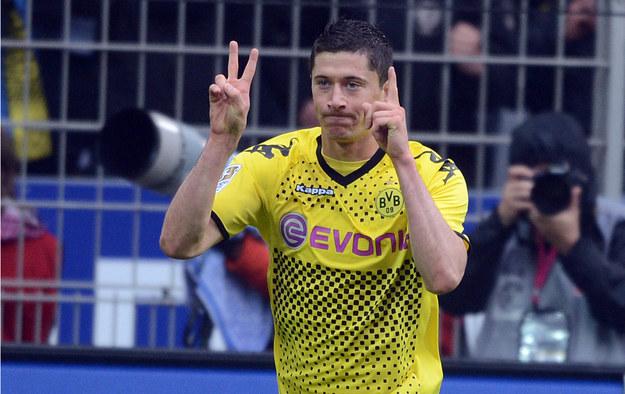 Napastnik Borussii Dortmund Robert Lewandowski /AFP