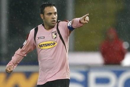 Napastnik Palermo - Fabrizio Miccoli. /AFP