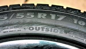 """Napis """"outside"""" oznacza, że jest to zewnętrza część opony. /Motor"""