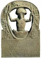 Narodziny boga Mitry, rzeźba znaleziona na terenie Anglii, przywieziona tam prawdopodobnie przez ż /Encyklopedia Internautica
