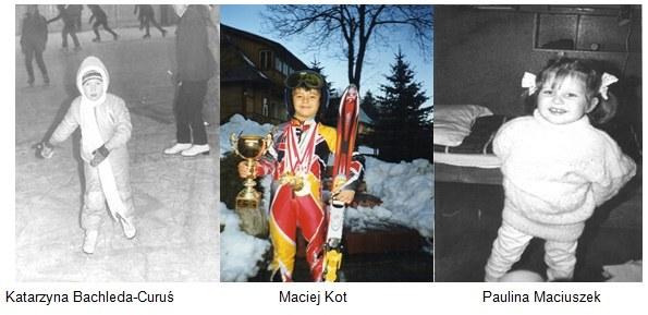 Nasi olimpijczycy tak stawiali pierwsze kroki. /INTERIA.PL
