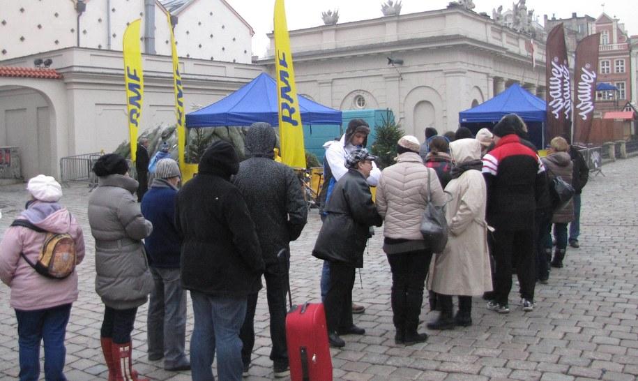 Nasz konwój choinkowy dotarł do Poznania /Jacek Skóra /RMF FM