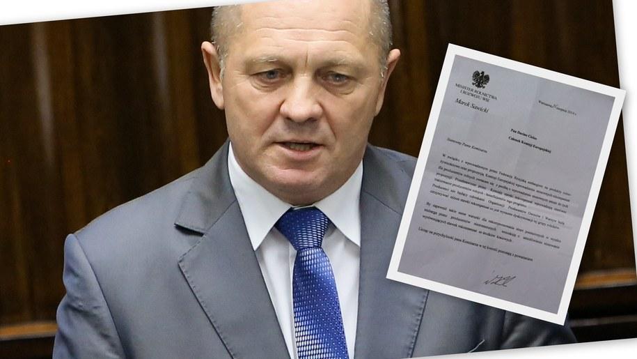 Nasza dziennikarka dotarla do listu Marka Sawickiego /Paweł Supernak /PAP