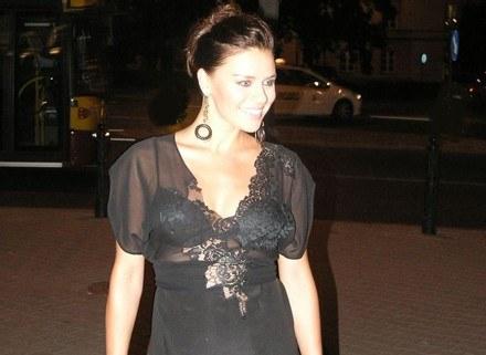 Natasza Urbańska lubi koronki ale tylko na wielkie gale... /INTERIA.PL