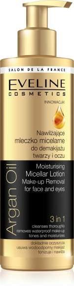Nawilzające mleczko micelarne do demakijażu twarzy i oczu 3w1 Argan Oil /materiały prasowe