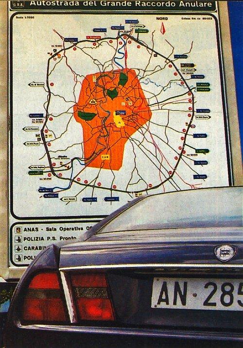 Nazewnictwo stosowane kiedyś przez Lancię ściśle związane było z drogami wychodzącymi z Rzymu. Via Appia, Ardea, Aurelia i Flaminia przecinają dziś nowoczesną obwodnicę stolicy Włoch. /Motor