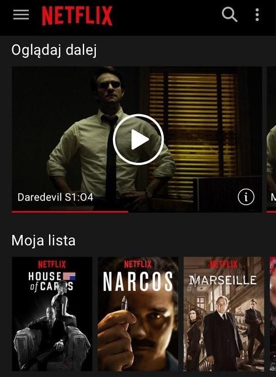Netflix - Mobila aplikacja /materiały prasowe