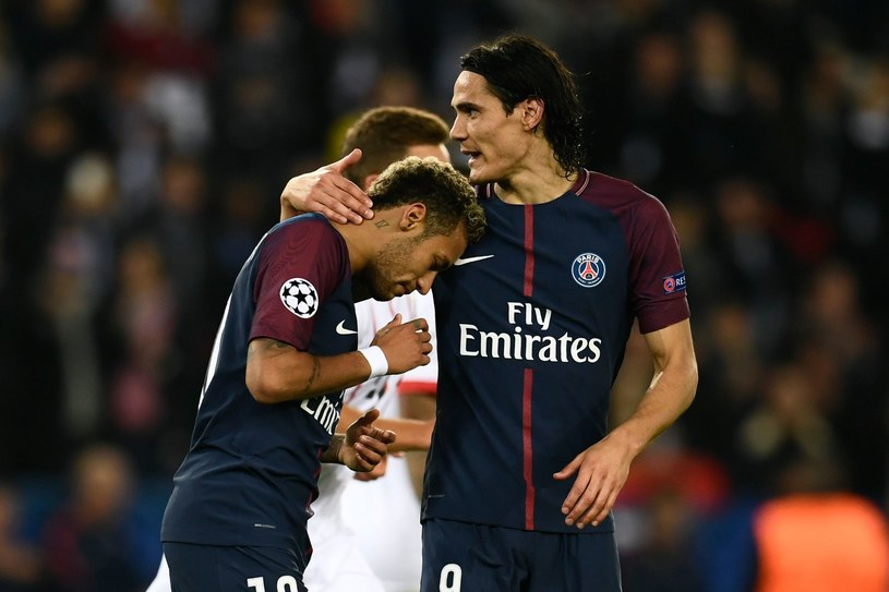 Neymar i Edinson Cavani podczas meczu z Bayernem Monachium /AFP