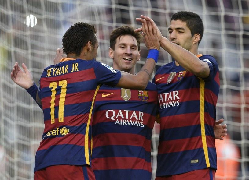 Neymar, Lionel Messi i Luis Suarez /AFP