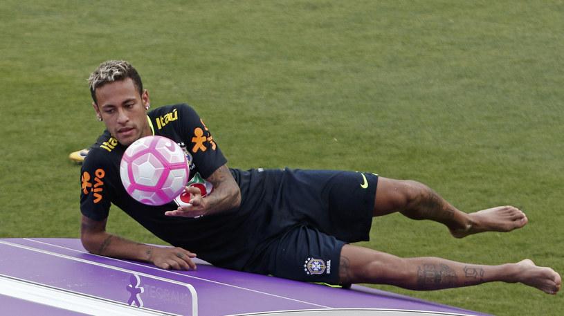 Neymar na zgrupowaniu reprezentacji Brazylii /AFP