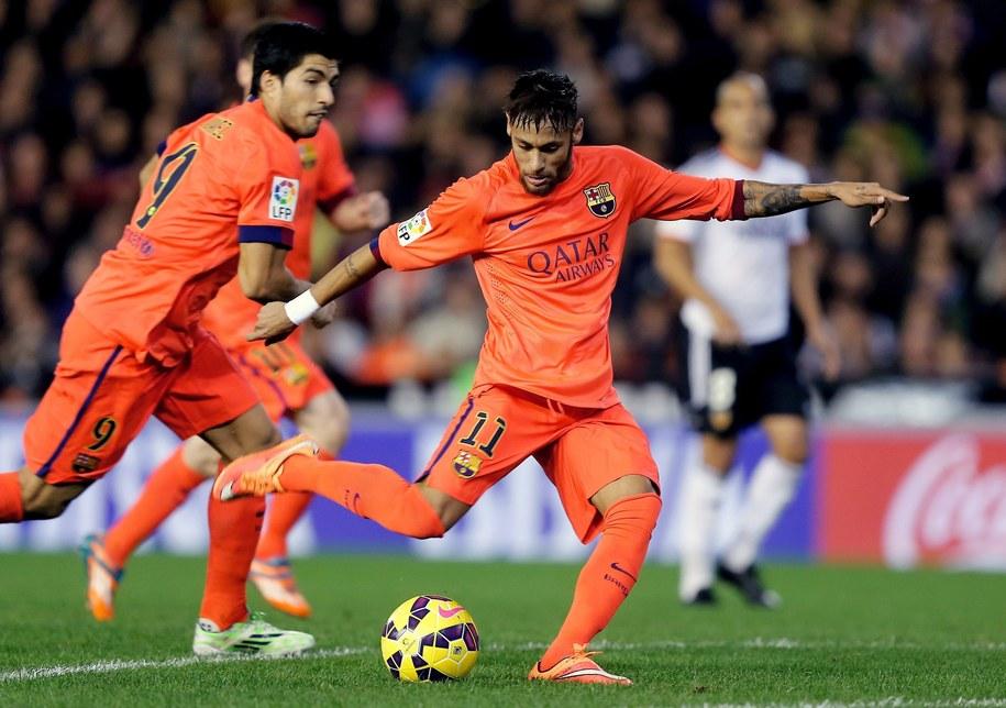 Neymar w meczu Barcelony z Valencią /JUAN CARLOS CARDENAS /PAP/EPA