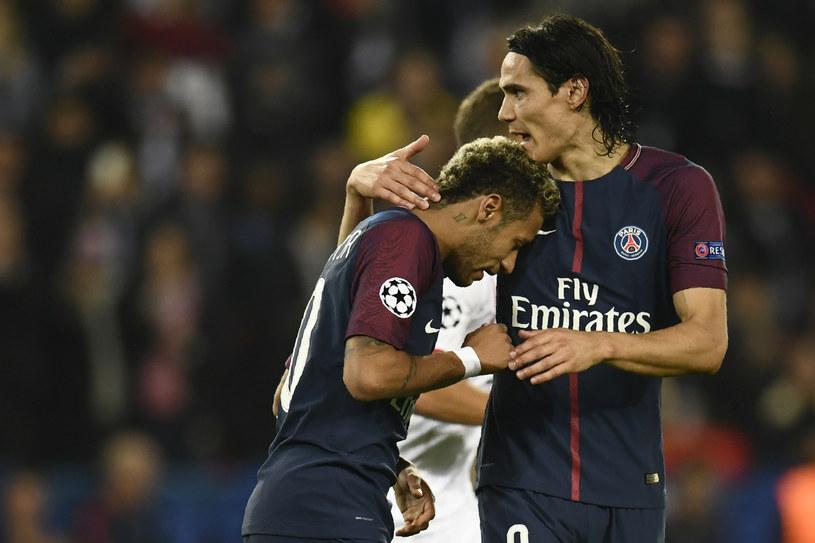 Neymar (z lewej) i Edinson Cavani /AFP